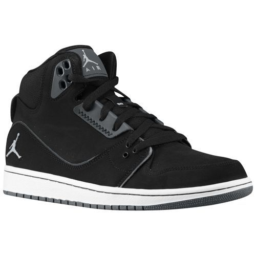 Jordan Mens 1 Flight 2j Black White Wolf Grey - Casual