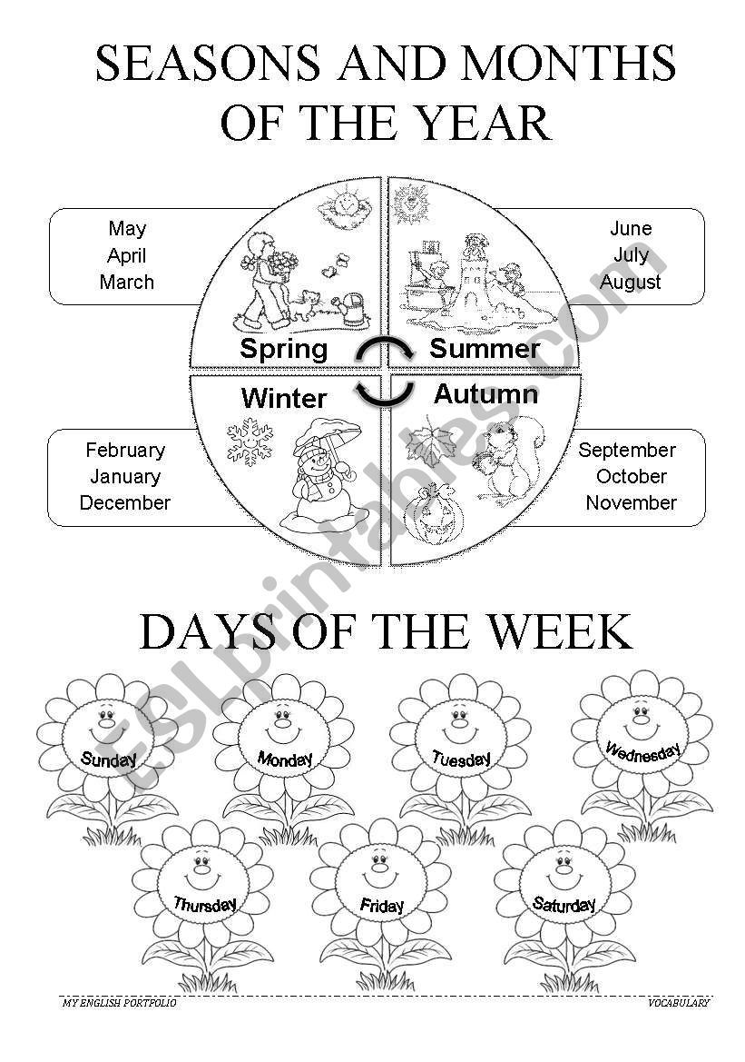 Children can learn the seasons, months and days while they