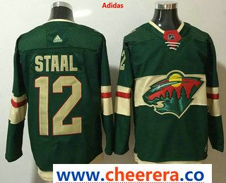 Men s Minnesota Wild  12 Eric Staal Green 2017-2018 Hockey Stitched NHL  Jersey 09421fd18