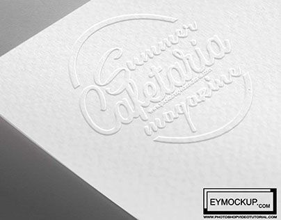 """Check out new work on my @Behance portfolio: """"Free Download White Embross Mockup"""" http://be.net/gallery/52321875/Free-Download-White-Embross-Mockup"""