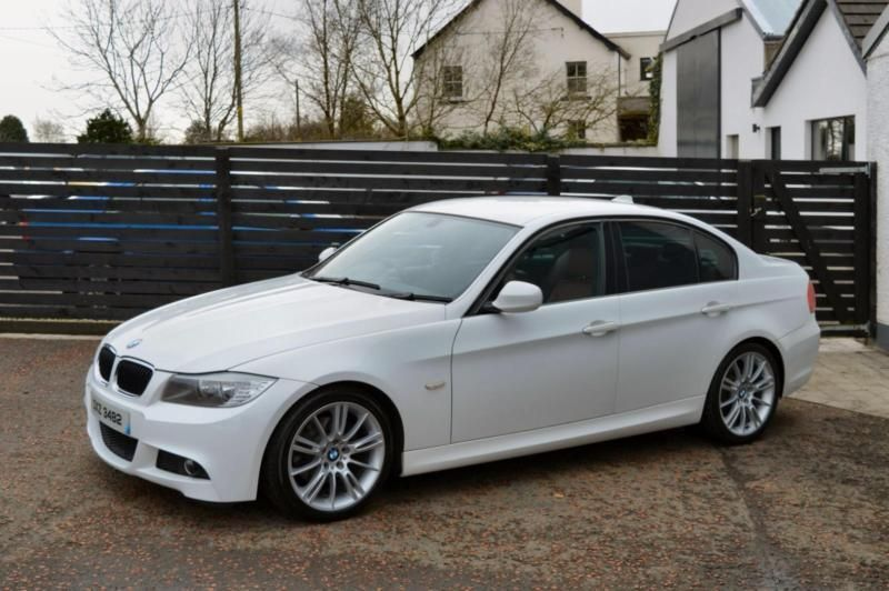 2009 Bmw E90 Lci 320d M Sport White Red Leather Fsh 2 Keys With