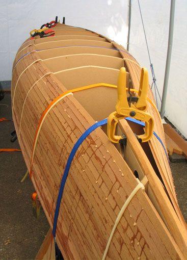 Building canoe cedar strip picture 94