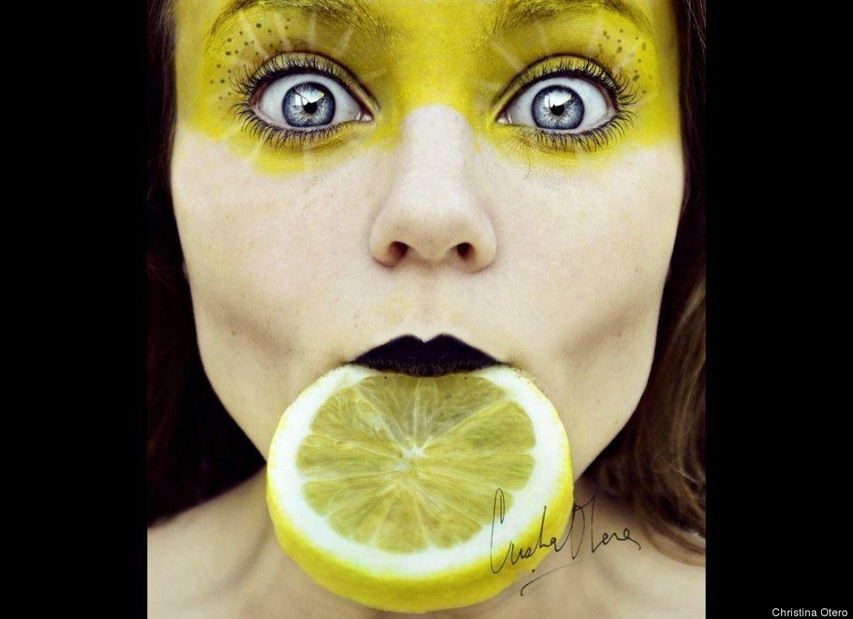 Really cool self protraits by Cristina Otero