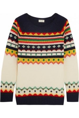 Women's jumpers & sweaters - Saint Laurent Fair Isle intarsia wool ...