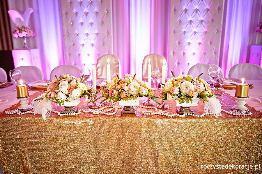 Młodzieńczy Dekoracja stołu weselnego, dekoracja stołu Pary Młodej,Dekoracja YH91