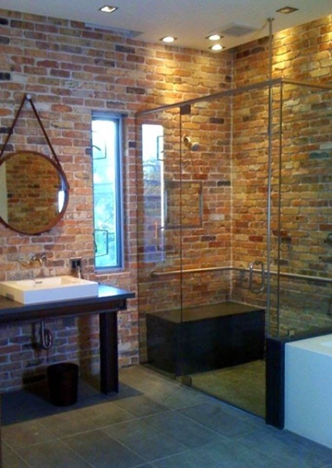 Interior Design Blog Of An Italian Architect Home Staging Home Relooking And Restyling Furniture Home Brick Bathroom Brick Tiles Bathroom Brick Wall Decor
