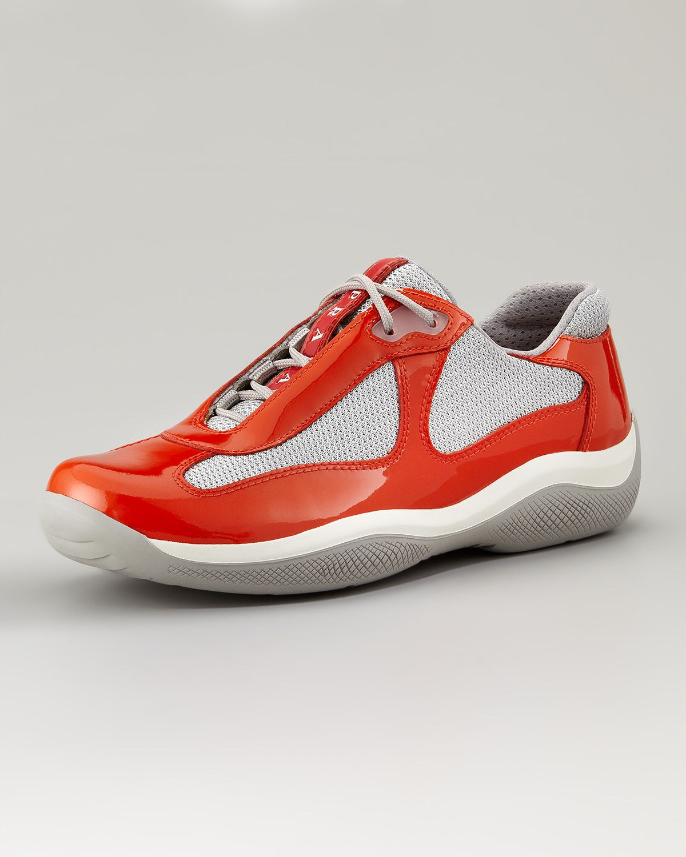 prada-lace-up-sport-sneaker-orange