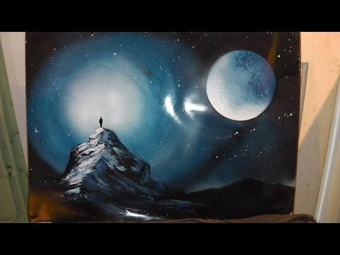 How To Spray Paint Art Blue Wolf Youtube Spray Paint Art Art Painting