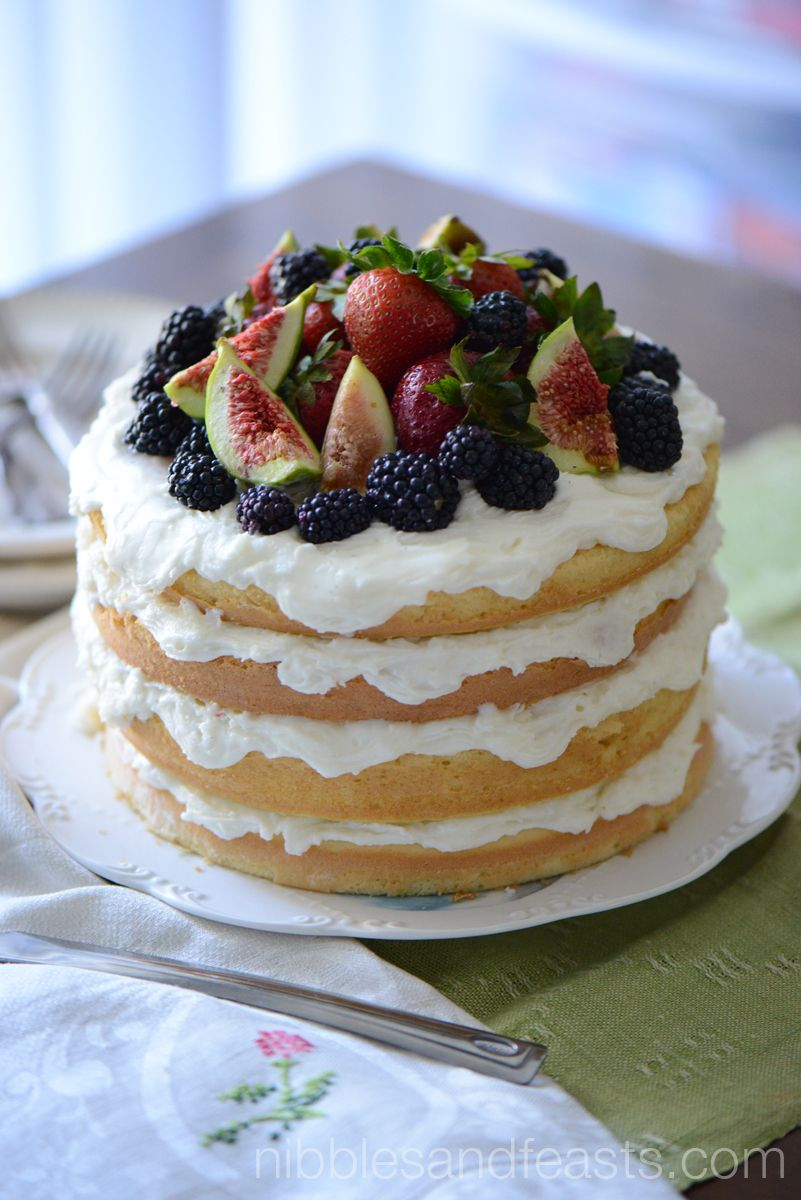 Naked Cake with Berries and Figs - Nibbles and Feasts