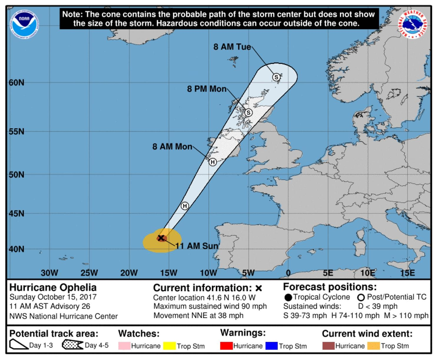 Ireland Lashed By Remnants Of Ophelia The Strongest Eastern Atlantic Hurricane On Record Storm Ophelia Atlantic Hurricane