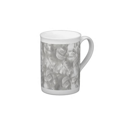 Silver Abstract Bone China Cups