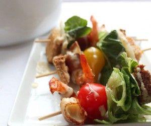 Shrimp and Bacon Caesar Sticks