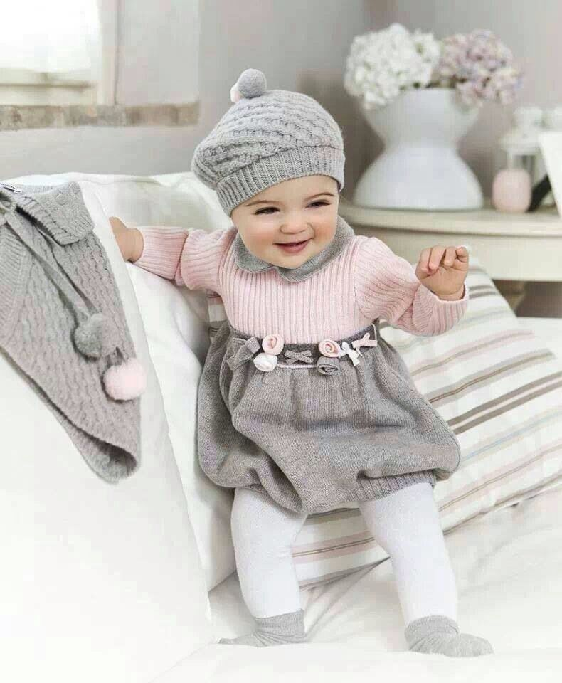 5ddf7ca39 Grey and pink baby girl winter clothes