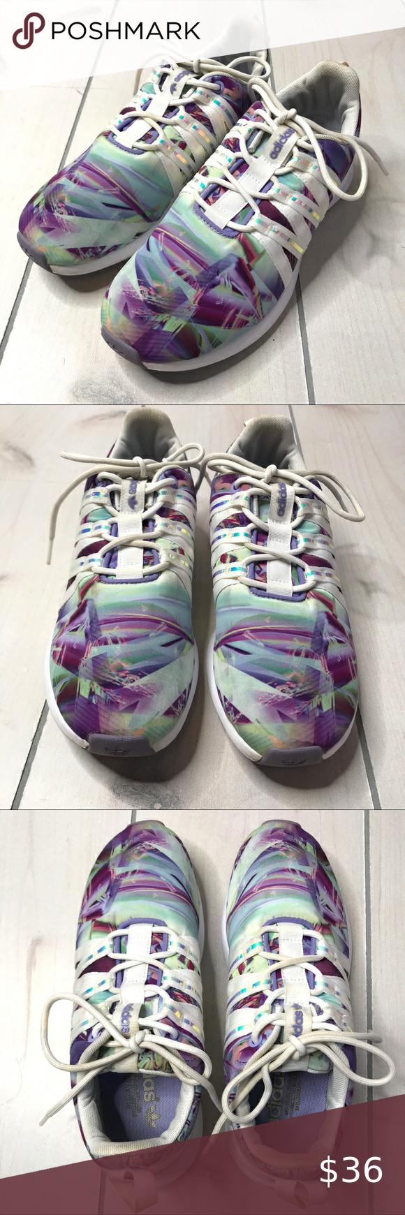 Adidas SL Loop Multi Purple Green Running Shoes Ad