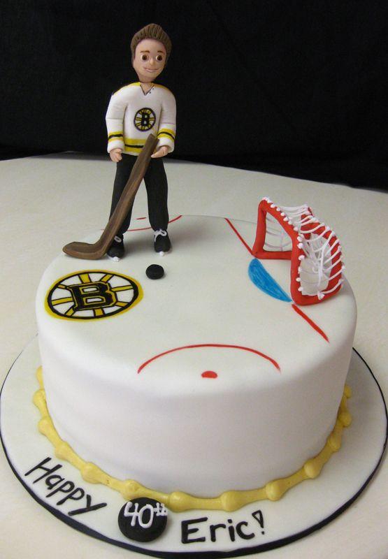 hockey cake Hockey Party Pinterest Hockey cakes Cake and