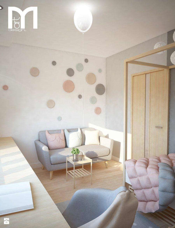 Projekt domu jednorodzinnego z pastelowymi kolorami - Pokój dziecka ...
