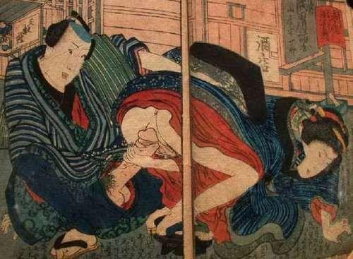 Японская эротика и секс в гравюрах