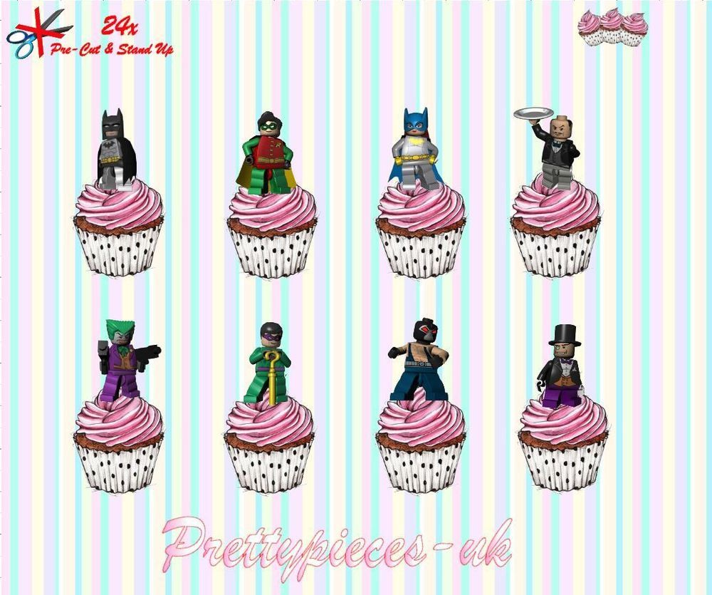 ICING PRECUT WAFER WAFER 24 PERSONALISED BING EDIBLE CUPCAKE TOPPERS RICE