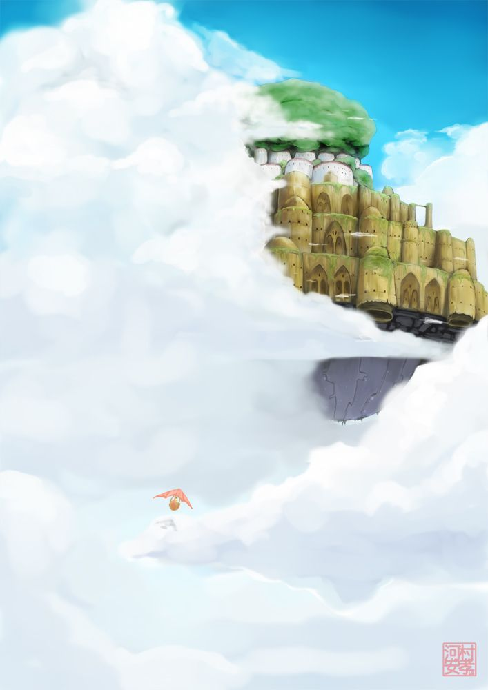 Laputa Castle In The Sky By Studiolg Deviantart Com On Deviantart 画像あり 綺麗なイラスト壁紙背景 水彩風景 壁紙 ジブリ