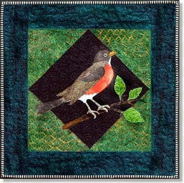 Robin Birds Applique Quilt Patterns By Debra Gabel Of Zebra