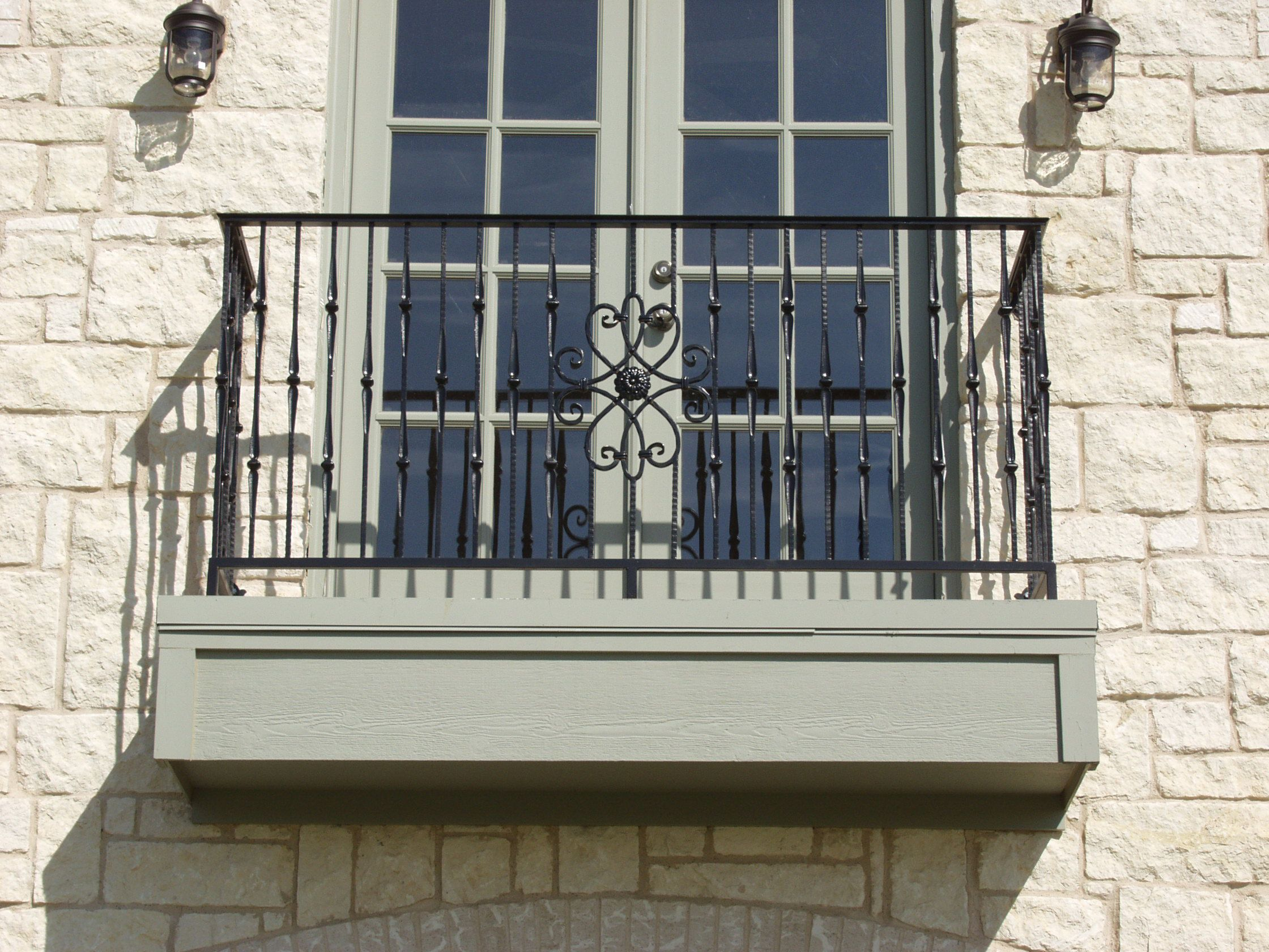 This custom balcony design was created using our for Terrace railing design