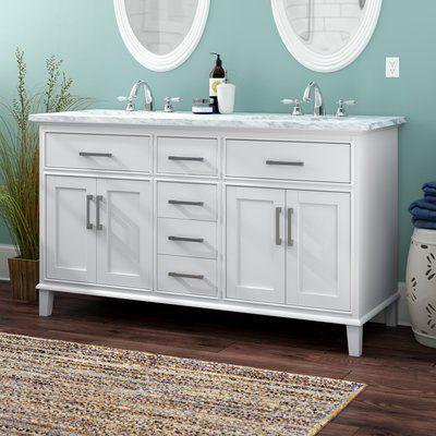 Best Beachcrest Home Mundy 60 Double Bathroom Vanity Set 400 x 300