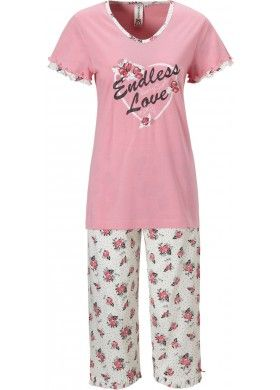 f3de5d3997c3fc17ccf7628d75306b34 - Dames Pyjama Met Korte Broek