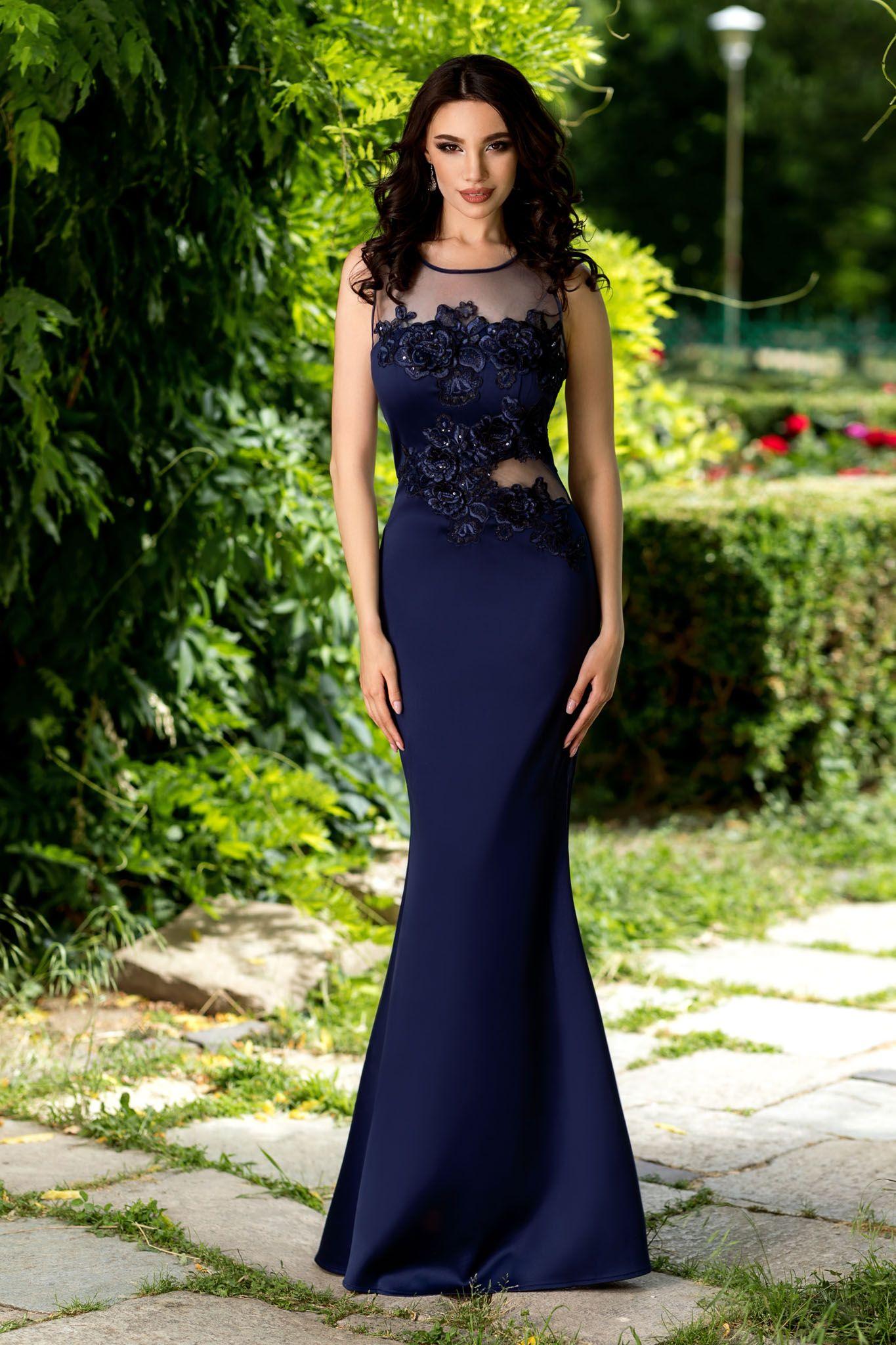 autentic preț scăzut calitate superioară Rochie nasa bleumarin/albastru inchis eleganta lunga pentru ...