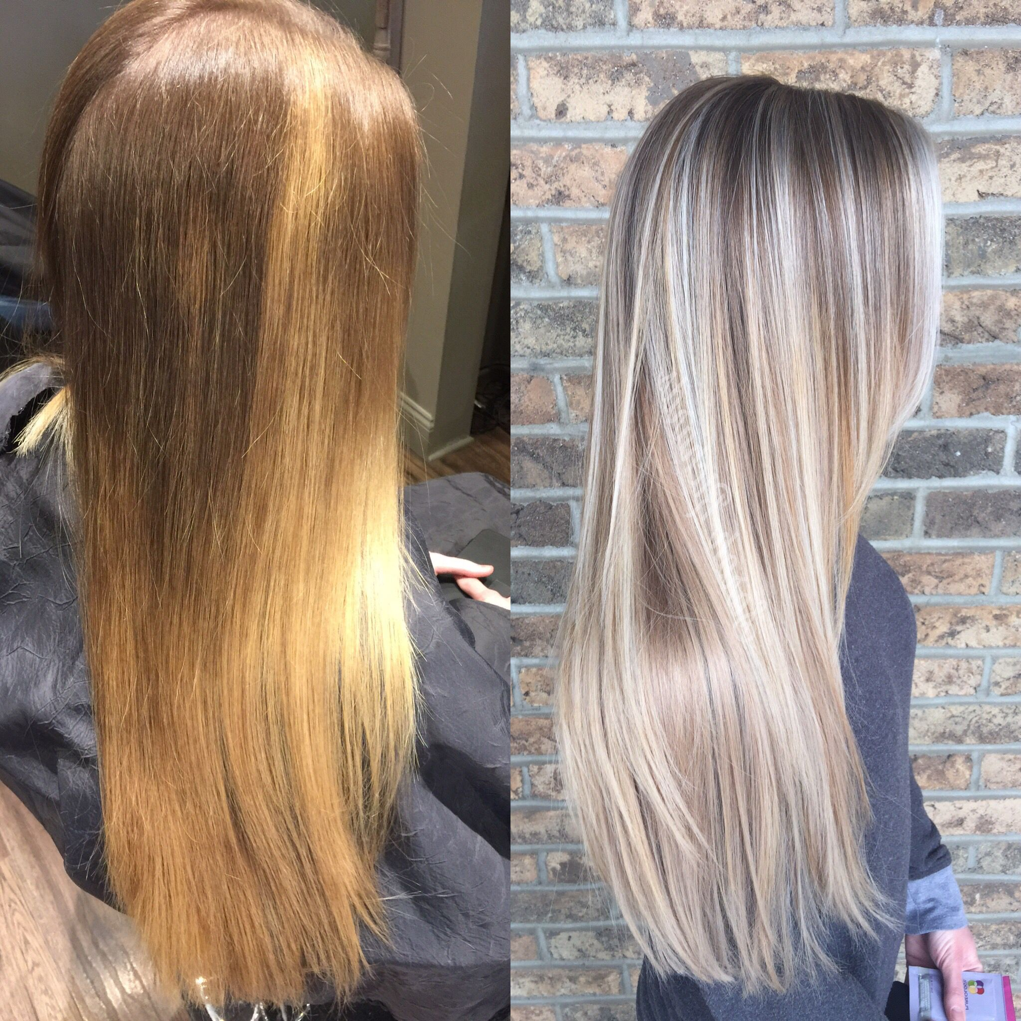 Before and after color correction color correction hair
