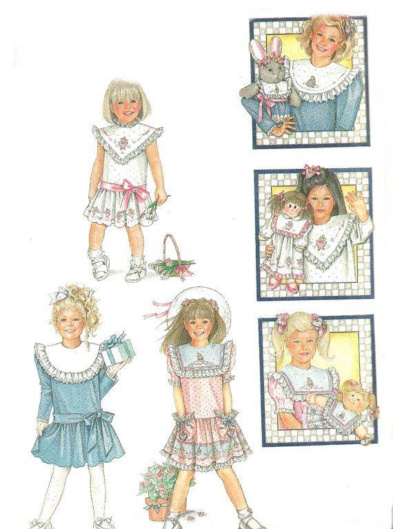 1980s Dress Pattern Daisy Kingdom Little Girls Size 6 by SelmaLee ...