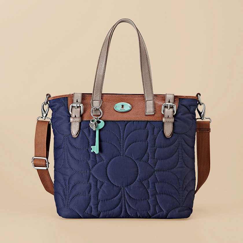 There are so many reason to love our nylon Key-Per Tote. For starters, the vintage-inspired styling along with bright and happy colors. #Fossil
