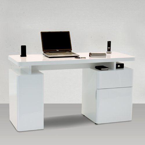 Cuuba Libre Writing Desk Jahnke Colour: High Gloss White in 2019