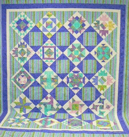 Sampler Quilt Settings | Springtime Queen Patchwork Sampler Quilt ... : quilt settings - Adamdwight.com