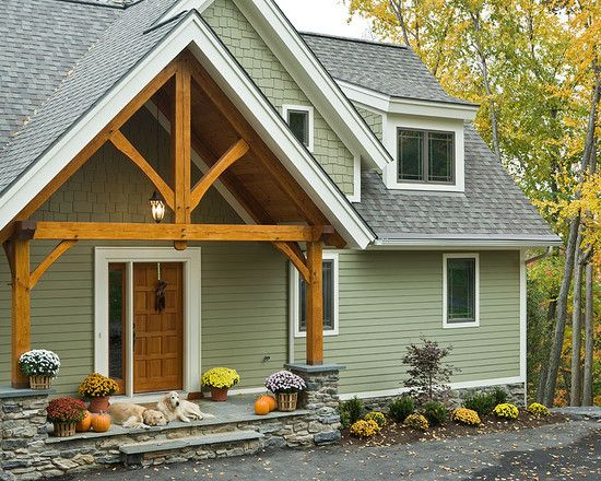 James Hardy Siding Heathered Moss Design Pictures Remodel Decor And Ideas House Paint Exterior Exterior Paint Colors For House Exterior Brick