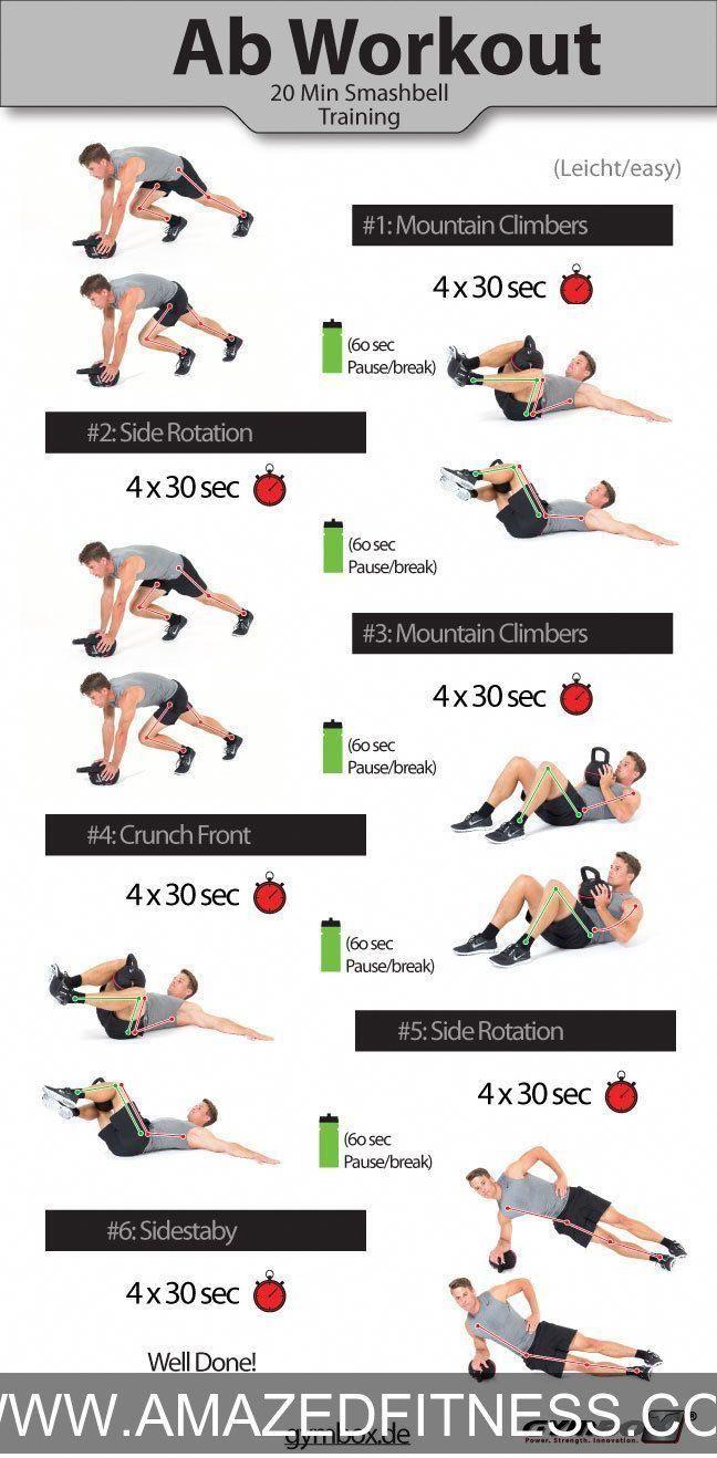 وصفات تخسيس البطن وتنشيف الجسم 2020 Kettlebell Ab Workout Abs Workout Kettlebell Abs