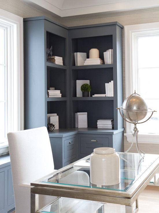 Modern Built In Desk And Cabinets Built Ins Gray Built Ins