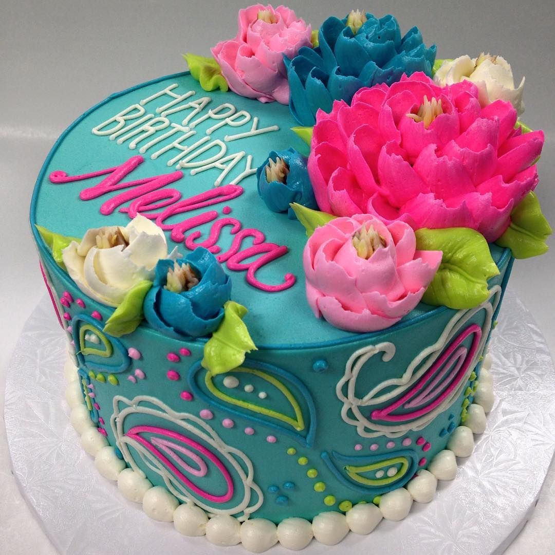 Buttercream Floral Birthday Cake Loooove This Cake, And It