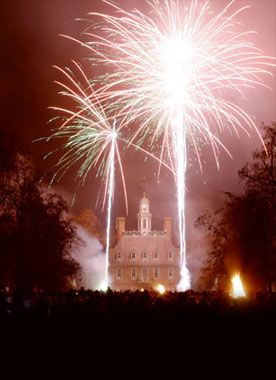 Fireworks on the 4th of July at Colonial Williamsburg
