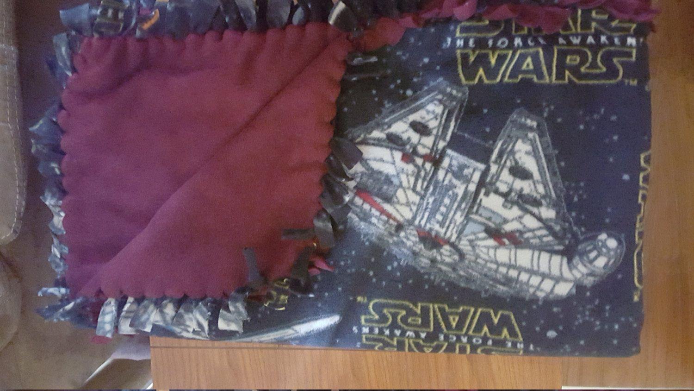 Star wars yd handmade fleece blanket by knotmystyleboutique on