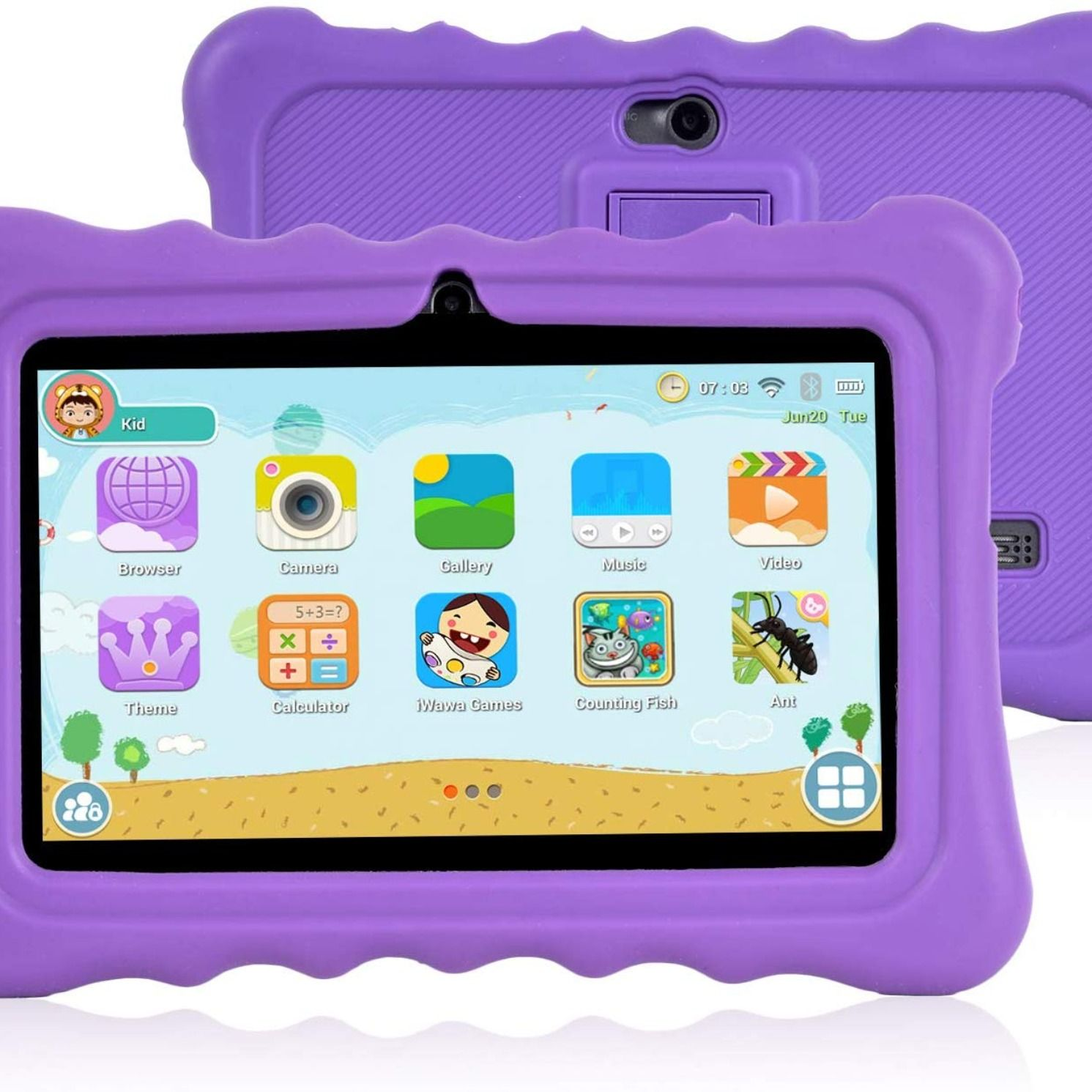 Xgody T702 7 Inch Hd Kids Tablet Pc For Kids Quad Core Android 8 1