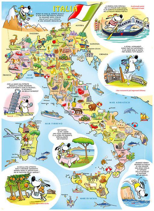 Italia viaggiare in italia mappe e geografia for B et b italia