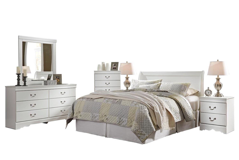 Best Ashley Anarasia 6Pc Queen Sleigh Headboard Bedroom Set 400 x 300