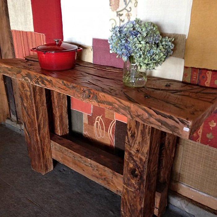 Resultado de imagen para mesa arrimo rusticas madera ...