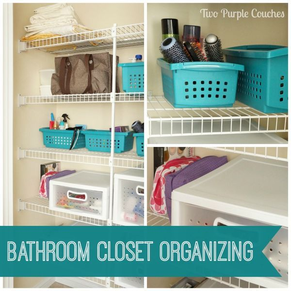 Easy DIY tips for keeping your bathroom closet space clean and organized