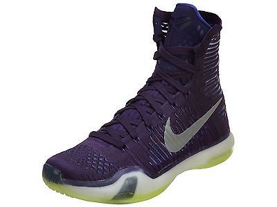 Nike Kobe 10 X Elite Team Mens 718763-505 Grand Purple Basketball Shoes  Size 7.5