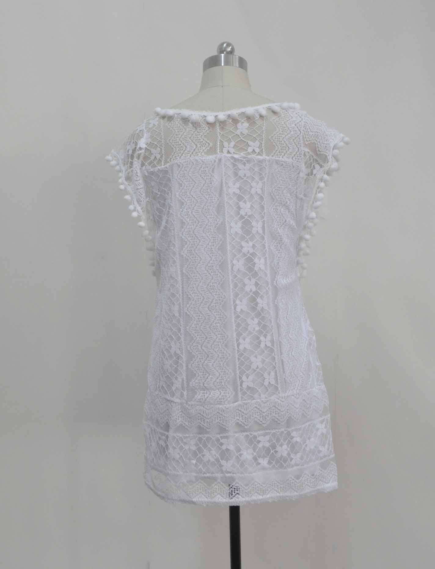 6e2d1b2db9fc $34.41 - Nice UZZDSS Summer Dress 2018 Women Casual Beach Short Dress  Tassel Black White Mini Lace Dress Sexy Party Dresses Vestidos S-XXL - Buy  it Now!