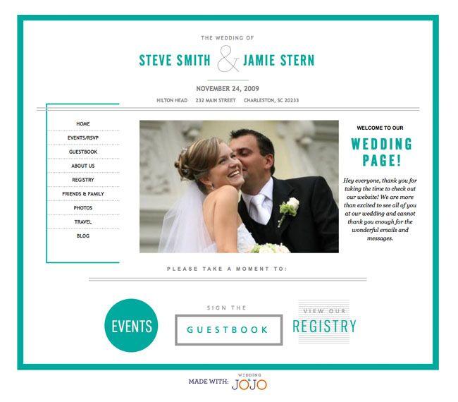 Wedding Gifts Website: Wedding Websites From Wedding Jojo