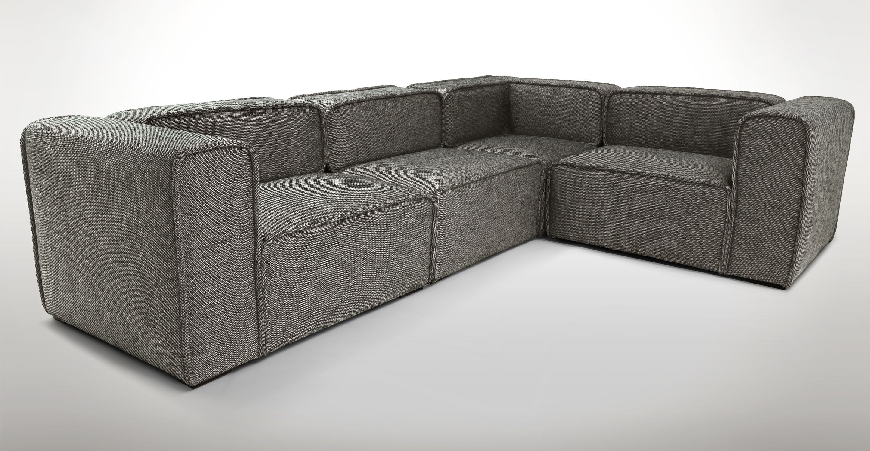 Taupe Modern Modular Sofa Quadra Modern Furniture