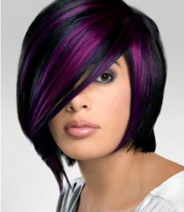 brun froid et violet ros - Coloration Brun Froid
