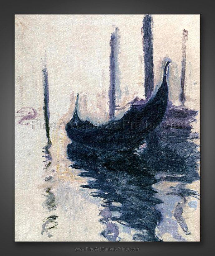 Claude Monet: Gondola in Venice